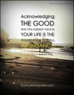 Gratefulness is the Gateway to Abundance